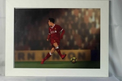 Karl Thyer print of a Bobby Firmino no look pass